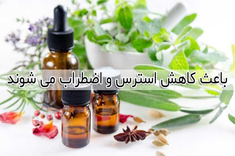 فواید روغن ها و اسانس های گیاهی توانایی کاهش استرس و اضطراب