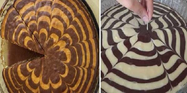 طرز تهیه کیک زبرا,کیک گوره خری,نحوه پخت کیک زبرا گردویی