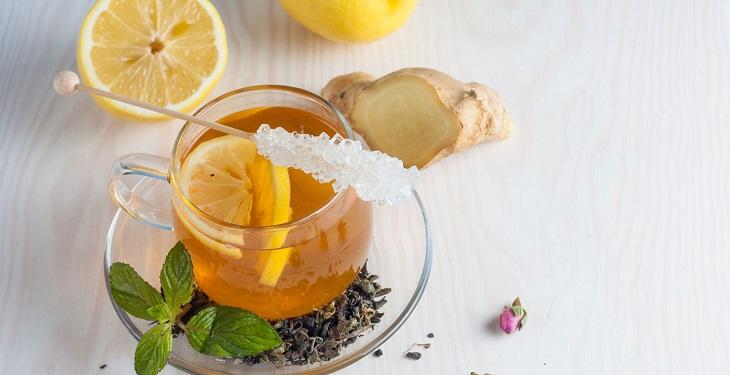 دمنوش چای سبز و زنجبیل یک دمنوش لاغری عالی و خوش طعم